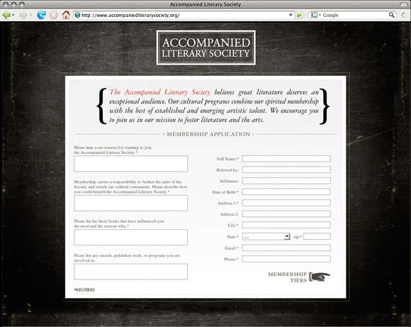 Accompanied Literary Society Members Signup