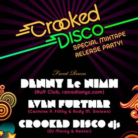 Defined by Media Crooked Disco June 08 Flyer Design