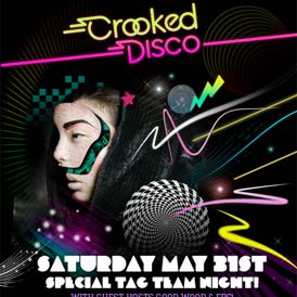 Defined by Media Crooked Disco March 08 Flyer Design