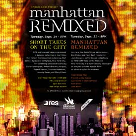 Defined by Media Manhattan Remixed Flyer Design for Spiewak