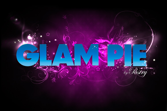 Glam Pie Typography, Pastry Footwear Fall 2008